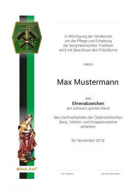 BHK-Dachverband-Urkunden-Muster